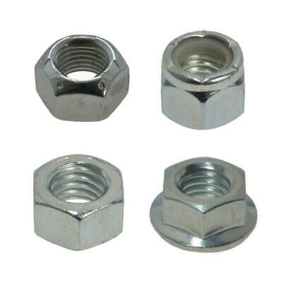 "3/8"" x 16 TPI UNC NUTS Imperial Coarse High Tensile Zinc Plated"