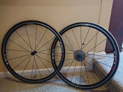 1a8b2cbe2e9 Shimano WH-RS10 700c clincher wheelset 10 speed with 11-28 cassette and  tires