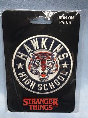 NEW! Licensed Netflix STRANGER THINGS Hawkins HS Tiger IRON ON Patch Badge