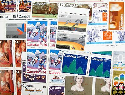 Lot of 653 Canada MNH Mint 14c & 15c Postage Stamps Face $94.29 #126795 X