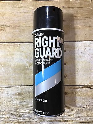 Vintage Right Guard Spray Deodorant Can Gillette Advertising Prop 1983