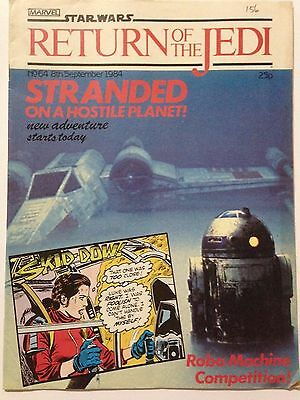 Marvel Comics STAR WARS Return of the Jedi. September 8th 1984. Issue 64