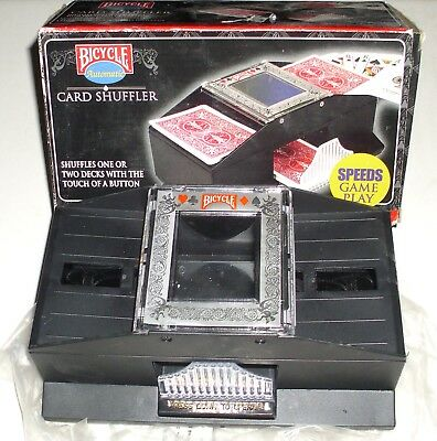 Bicycle  Battery Operated Shuffles 1 Or 2 Decks Automatic Card Shuffler in Box!
