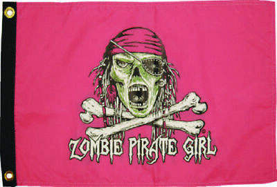 "12x18 Pirate Zombie Outbreak Flag 12/""X18/"" 2 SIDED NYLON BOAT Flag"