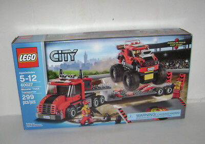 NEW 60027 Lego CITY Monster Truck Transporter Building Toy SEALED BOX RETIRED A