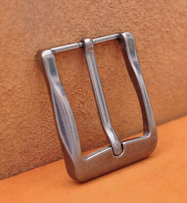 40mm Antique Silver Casual Men Pin Waist Leather Single Prong Clips Belt Buckle