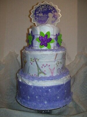 BABY SHOWER Games Diaper Cake Party Favor Make Your Magic Centerpiece Decoration