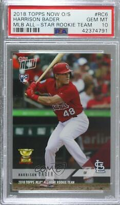 2018 Topps Now Rookie Cup #RC6 Harrison Bader PSA 10 GEM MT Baseball Card