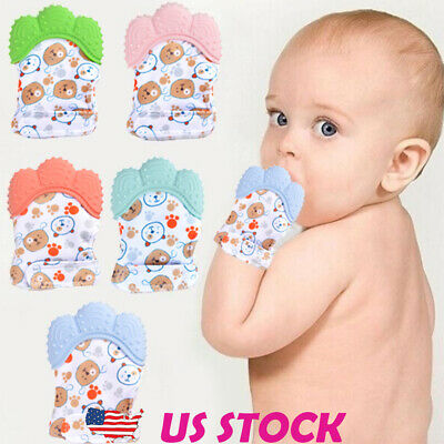 New Design Newborn Baby Silicone Mitts Teething Mitten Molars Glove Wrapper Gift