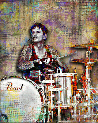 Tommy Lee Of MOTLEY CRUE 20x30in Poster, Motley Crüe Music Art Free Shipping