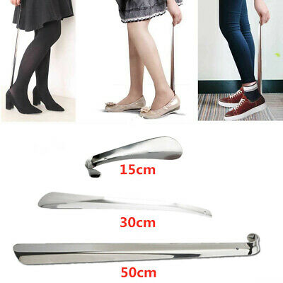 15/30/50cm Shoe Horn Stainless Steel Silver Metal Shoes Remover Shoehorn Tool AU