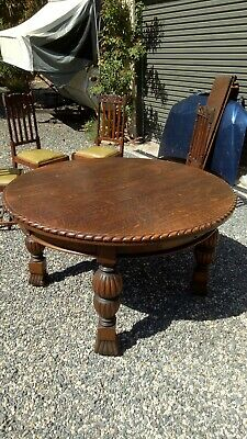 Antique  Old Oak Table Round