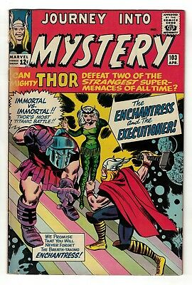 Marvel comics Journey into mystery Thor 1st Appearance Enchantress 6.0 FN