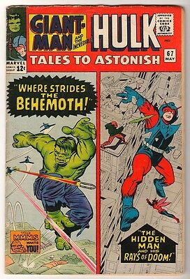 Marvel TALES TO ASTONISH 67 HULK ANT-MAN Pym GIANT MAN AVENGERS  VG-
