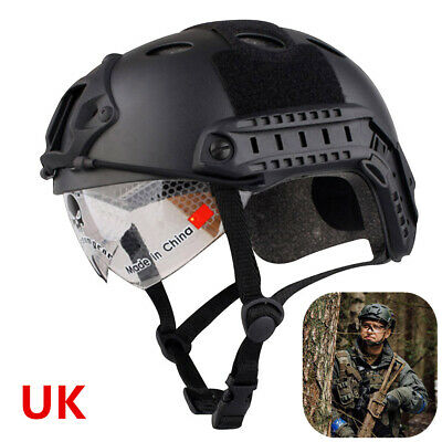 UK Tactical SWAT Goggles Eye Mask Protect Fast Helmet For Airsoft Paintball Hunt