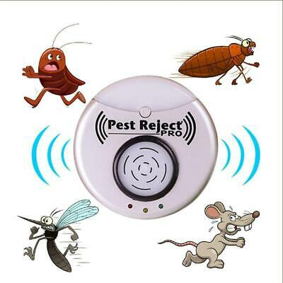 Ultrasonic Pest Reject Pro Bug Mosquito Cockroach Mouse Killer Repeller US Plug