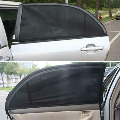 2x Car Sun Shade Cover Blind Mesh for Rear Side Window kids Max UV Protection L