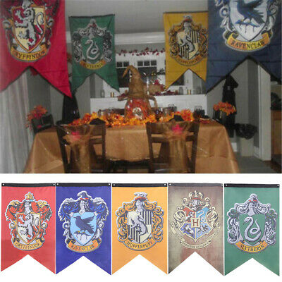Harry Potter Flag Four Hogwarts Magic Colleges Pattern House Banner Decoration