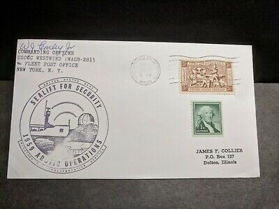 USCGC WESTWIND WAGB-281 Naval Cover 1959 ARCTIC Cachet APO 23 GREENLAND