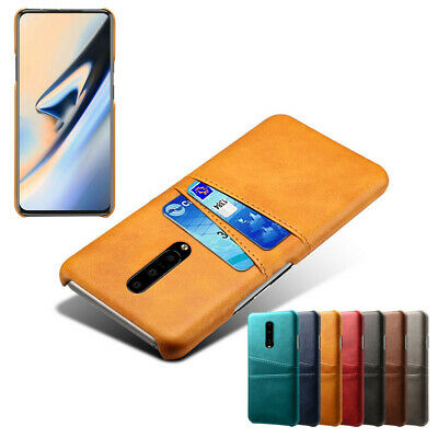For OnePlus 7 Pro 6T 6 5 Case Luxury Slim PU Leather Back Card Slot Wallet Cover