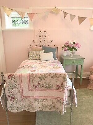 Antique Cast Iron Single Bed Frame
