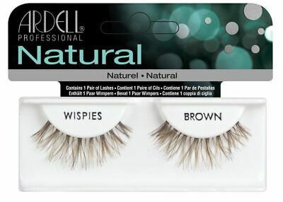 341aa1e6c77 Ardell Full False Eye Lashes - Natural Wispies - Brown - Easy To Apply