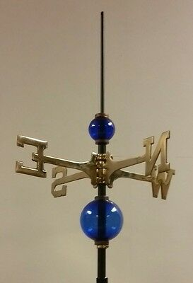Full weathervane set-up/ 2.5'' & 4.5'' GLASS balls/ roof mount/ROD&DIRECTIONALS