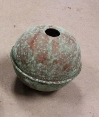 COPPER BALLs 2--4'' OXIDIZED for weathervanes OR LIGHTENING RODS fits 3/4'' rod