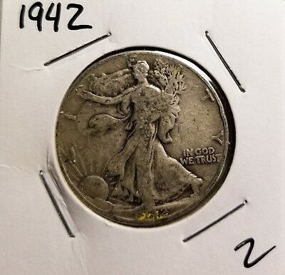 1942 P 50 cent Liberty Walker Half Dollar better than average condition LOOK
