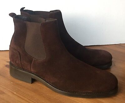5b5a75188fb WOLVERINE 1000 MILE Montague Chelsea Men's Brown Suede Boots Size 11 Worn  Once
