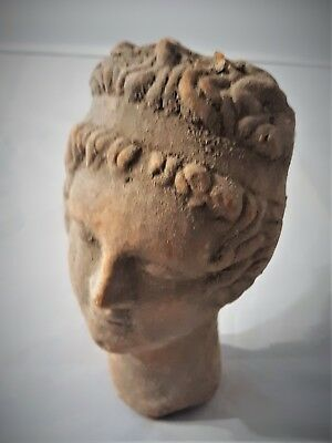 Hellenistic Greek Terracotta Cleopatra VII Thea Philopater Bust Ptolemaic Egypt