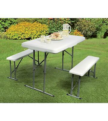 Pleasant Heavy Duty Folding Camping Table Bench Set Garden Furniture Gmtry Best Dining Table And Chair Ideas Images Gmtryco