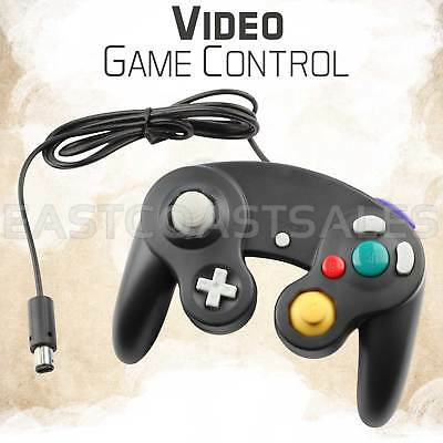 Black Video Game Pad Controller Remote For Nintendo Wii GameCube System Console