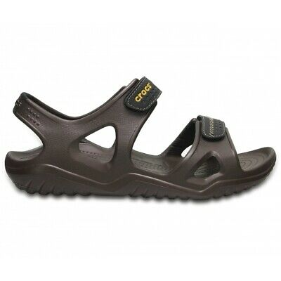 Crocs SWIFTWATER RIVER SANDAL Mens Summer Croslite Sports Sandals Espresso/Black