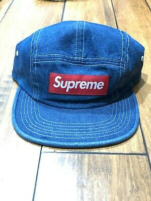 6b7b11f2984be Supreme Ss19 Washed Chino Twill Camp Cap Hat Denim Blue Authentic New!