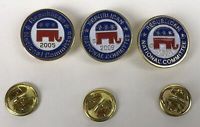 RNC Republican National Convention Elephant Red White Pin Hat Tie 2005 2009 2010