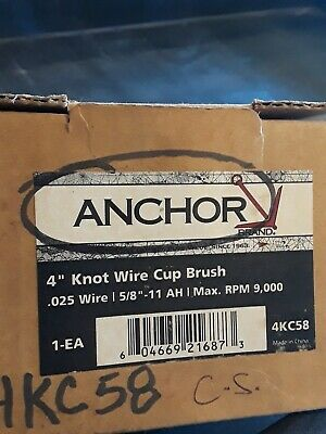 """Anchor 4"""" Knot Cup 4"""" X.020 5/8-11  - 1 Each"""