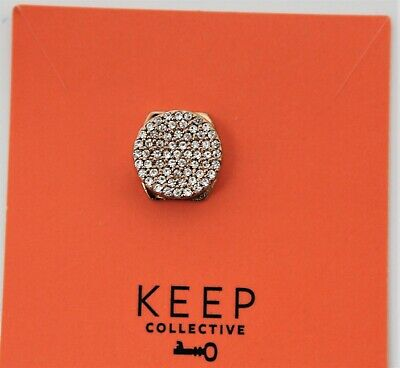 RETIRED Sold Out Keep Collective Silver Pave Moonstone Charm