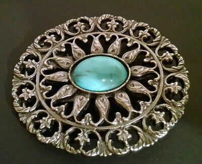 Vintage Silver Color Turquoise Style Southwest Belt Buckle