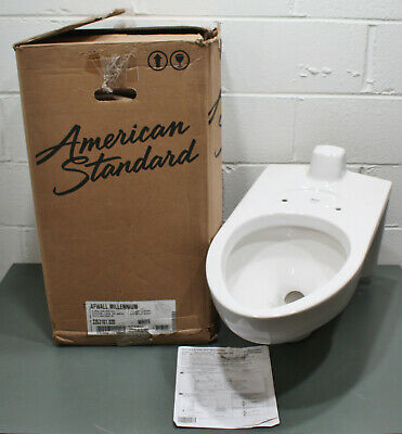 American Standard Elongated Wall Mounted Toilet 3353101.020, Afwall Millennium