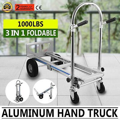 3 in 1 Aluminum Folding Sack Truck Hand Trolley Cart Car Industrial  Heavy Duty