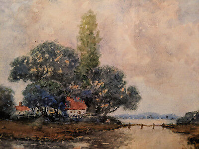 Royal H Milleson 19th 20th century watercolor landscape painting ill OH to $9975