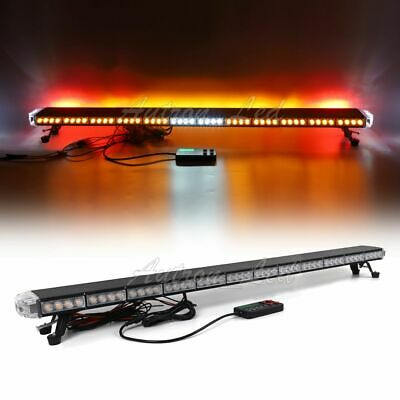 "55"" Amber LED Emergency Back W/ BRAKE TURN Lights Truck Wrecker Strobe Lightbar"
