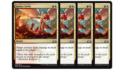 4x Justice Strike MTG Guilds of Ravnica NM Magic Regular
