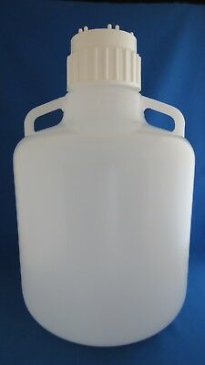 Nalgene 10L LDPE Carboy with Handles & 83mm Cap  2.5 Gallon