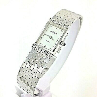 Avignon Vintage ladies 14k white gold diamond Bracelet watch quartz 585 estate