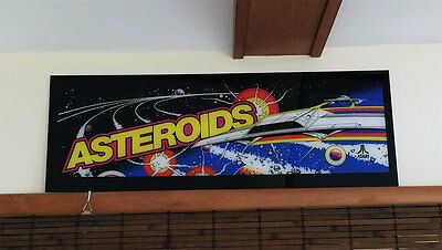 1979 ATARI ASTEROIDS Arcade Machine MARQUEE Brand new SCREEN PRINTED