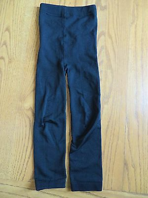 Girls Black Leggings Size 4-6 VGUC