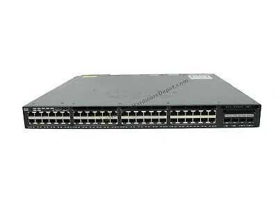 CISCO WS-C3650-48FD-S 48-PORT PoE+ 3650 Switch w/ 1025W AC PWR - 1 Year  Warranty