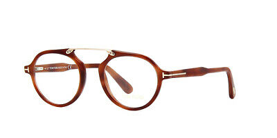 d878ceba71 NEW TOM FORD TF 5494 053 Shiny Brown   Demo Lens 47mm Eyeglasses ...